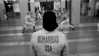 Ibtihaj Muhammad trains at the Fencer's Club in New York City, New York on March 2, 2016. (Photo by Lynn Johnson/The Players' Tribune)