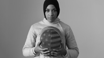 Ibtihaj Muhammad poses for a portrait at Canoe Studios in New York City, New York on March 3, 2016. (Photo by Lynn Johnson/The Players' Tribune)