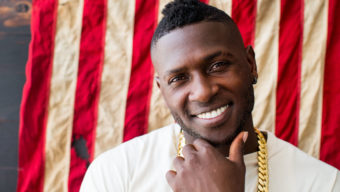 Antonio Brown visits The Players' Tribune TPT Studio B in New York, NY on July 8, 2016. (Photo by Taylor Baucom/The Players' Tribune)