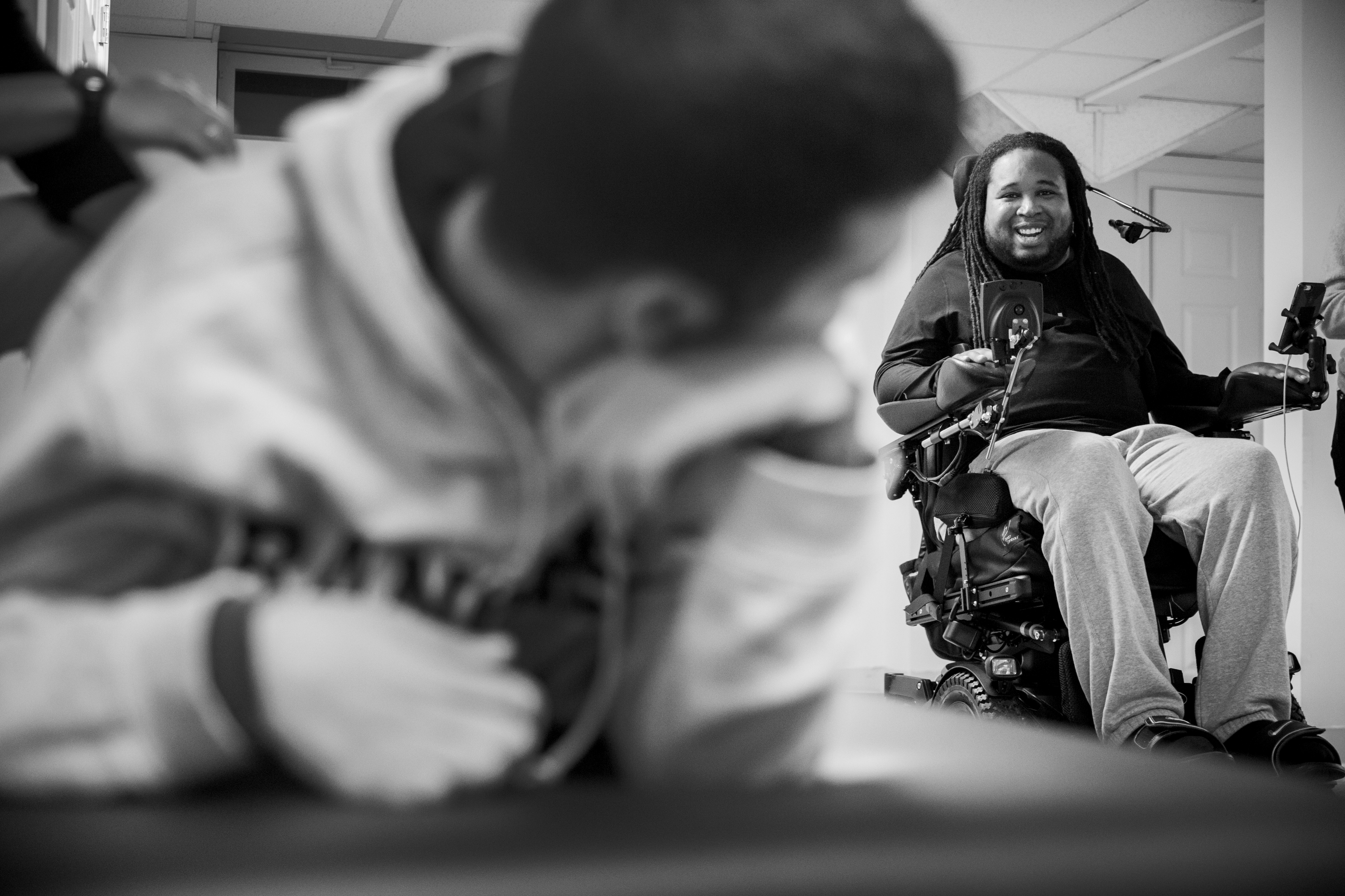 Mikey Nichols and Eric LeGrand at Mickey's house in Monroe, New Jersey on October 10, 2016.(Photo by Taylor Baucom/The Players' Tribune)