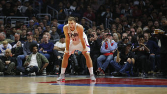 Los Angeles Clippers' Blake Griffin watches during the first half of an NBA basketball game against the Oklahoma City Thunder, Monday, Dec. 21, 2015, in Los Angeles. (AP Photo/Jae C. Hong)