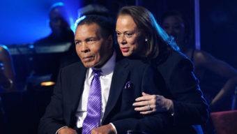 "LAS VEGAS, NV - FEBRUARY 18:  (EXCLUSIVE COVERAGE)  Boxing legend Muhammad Ali (L) and wife Lonnie Ali appear onstage during the Keep Memory Alive foundation's ""Power of Love Gala"" celebrating Muhammad Ali's 70th birthday at the MGM Grand Garden Arena February 18, 2012 in Las Vegas, Nevada. The event benefits the Cleveland Clinic Lou Ruvo Center for Brain Health and the Muhammad Ali Center.  (Photo by Ethan Miller/Getty Images for Keep Memory Alive)"
