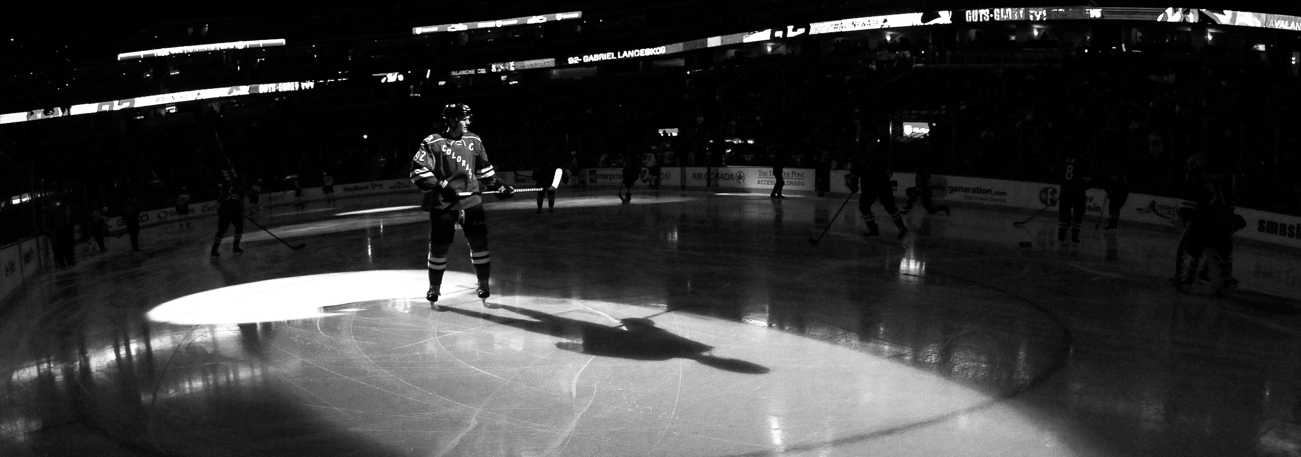 DENVER, CO - DECEMBER 11:  Gabriel Landeskog #92 of the Colorado Avalanche takes the ice to face the Winnipeg Jets at Pepsi Center on December 11, 2014 in Denver, Colorado. The Avalanche defeated the Jets 4-3 in an overtime shootout.  (Photo by Doug Pensinger/Getty Images)