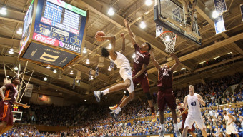 DURHAM, NC - JANUARY 09:  Shane Henry #0 of the Virginia Tech Hokies tries to stop Brandon Ingram #14 of the Duke Blue Devils during their game at Cameron Indoor Stadium on January 9, 2016 in Durham, North Carolina.  (Photo by Streeter Lecka/Getty Images)