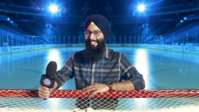 Harnarayan Singh: Hockey Night In Canada, With Mr. Chapared Shot
