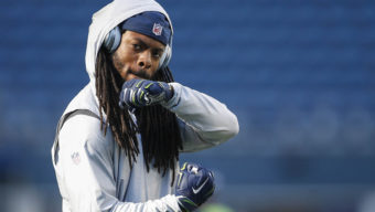 Aug 25, 2016; Seattle, WA, USA; Seattle Seahawks cornerback Richard Sherman (25) participates in pre game warmups against the Dallas Cowboys at CenturyLink Field. Mandatory Credit: Joe Nicholson-USA TODAY Sports